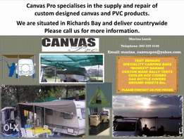 Canvas products repaired and manufactured
