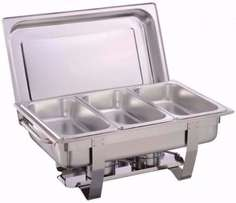 Stunning Stainless Steel TRIPLE PAN Chafing dish with 2 Burners