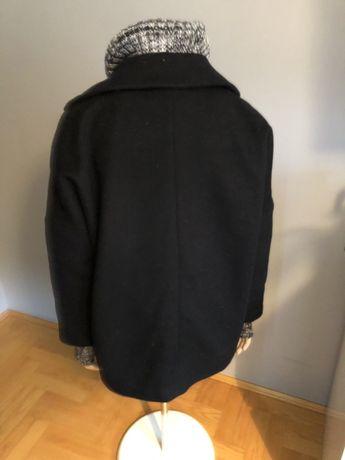 Płaszcz czarny Zara Woman oversize M wełna na zimę Kraków