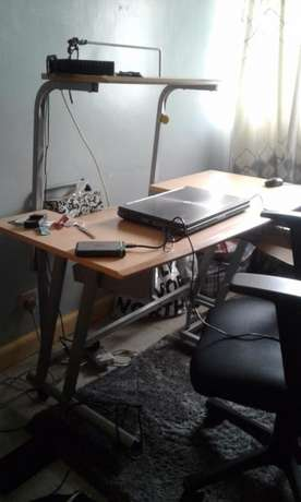 Wooden and Steel Workstation Kilimani - image 2