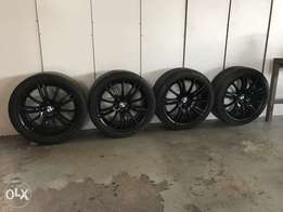 18 inch bmw m sport rims with tyres