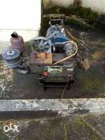 A fairly used diesel generator