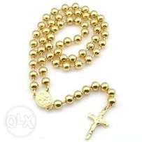 Men's Beaded Rosary - Gold