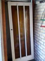For sale maranti door with 3 glass panes