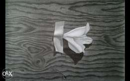 3d Pencil drawing of wood and flower