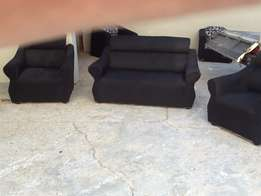Plain black 4 seater