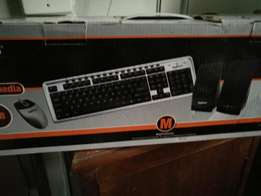 Multimedia Keyboard, Mouse and Speakers