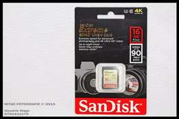 SanDisk Extreme 16GB SDHC - Class 10 - 90MBs