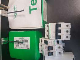 Schneider breakers and control relays