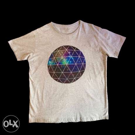 One Universe Print Cotton T-Shirt