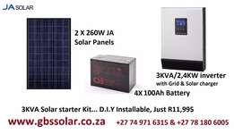 3KVA DIY solar system to go offgrid package with more storage
