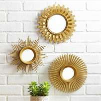 Three piece mirror decor set