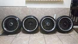 """4 17"""" EAGLE RIMS with tires for sale"""