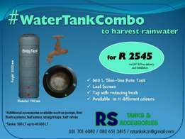 Harvest Rainwater with our water tank combos