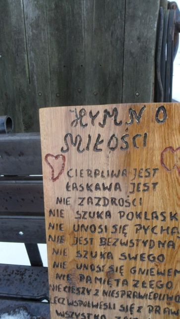 Hymn Miłości święty Paweł Wesele Deska Ozdobna Wiersz Na