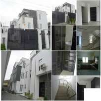 4 bedroom terraced house with BQ, Lekki right-hand side