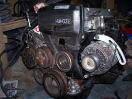 Toyota wetlook body and a 4agze complete motor to swop