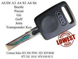 AUDI Transponder key compatible with these models