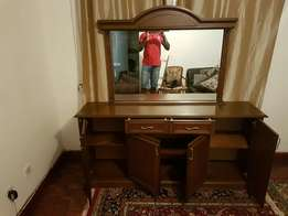 Cabinet with Mirror on Top