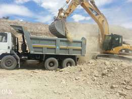 Tippers and Excavators available for lease.
