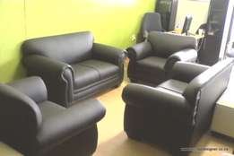 Black Cindy lounge suite (6 seater)