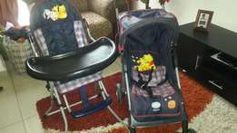 Disney baby pram and feeding chair (set)