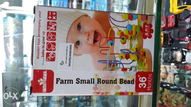 farm small round bead for sell kids playing wood item