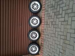 Nissan 1400 bakkie Raceheart mags with Kumho Tyres