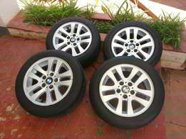 BMW 16inch mags + runflat tyres