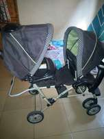 New balanced twin barrel stroller