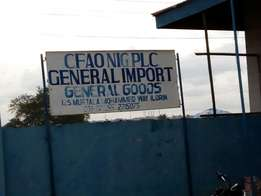 CFAO Ilorin property for sale located At Muritala Muhd Way.