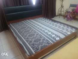 Double bed with free matrix