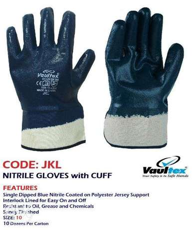 COdE:JKL, NitrILe GlovEs wITH cuFf