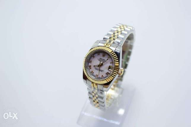 Datejust HalfGold Automatic For women ساعة حريمي