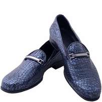 Whole Skin Leather Shoes - Blue