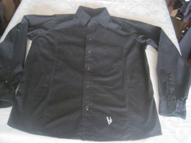 d0f1739655fc8 koszula BRUNO BANANI męska młodzieżowa dla chłopca roz. M L czarna Gdańsk -  image 1