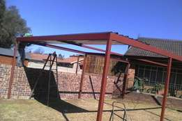 Carports , sliding gates , palisade fencing , structures
