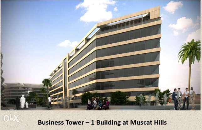 Free hold, Office space (2B) in Muscat hills for rent visible 3 road
