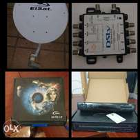 DSTV package - dish, switch, PVR decoder
