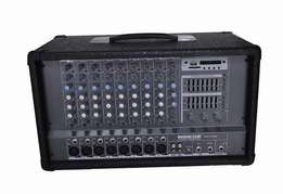 8 channels mixer amp