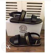 cool black versace sandals