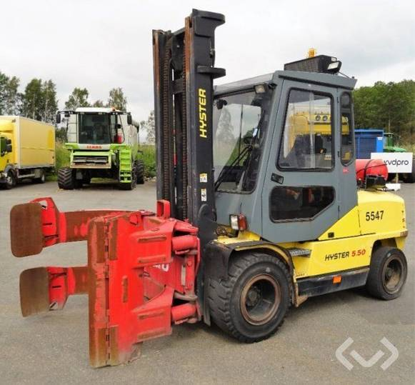 Hyster 5.50XM Counterbalanced forklift (LPG) with clamping unit -
