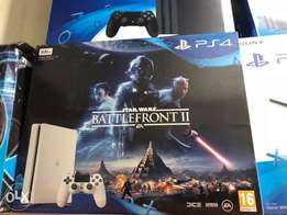 PS4 white bundled with battlefront 2 free