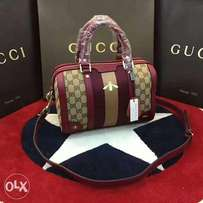 Brown and wine Gucci bag
