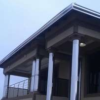 Stainless steel pillarcovers and gutters
