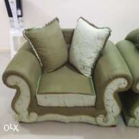 7-seater sofa set with poof.