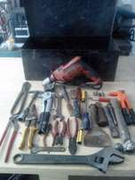 Black & Decker Drill With Tool Box & Tools and More