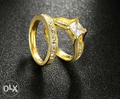 Gold plated bridal ring set (promo)