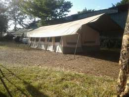 New and used camping tents