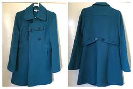 Winter is Coming - Teal/Turquoise Pea-Coat